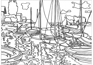 Coloriage enfant monet 1