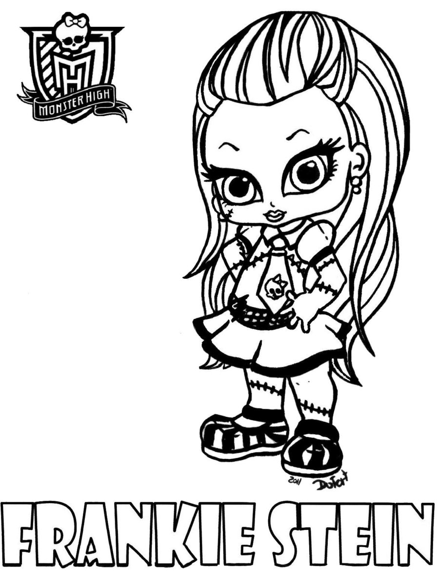 Monster high 11 coloriage monster high coloriages pour - Coloriage monster high baby ...