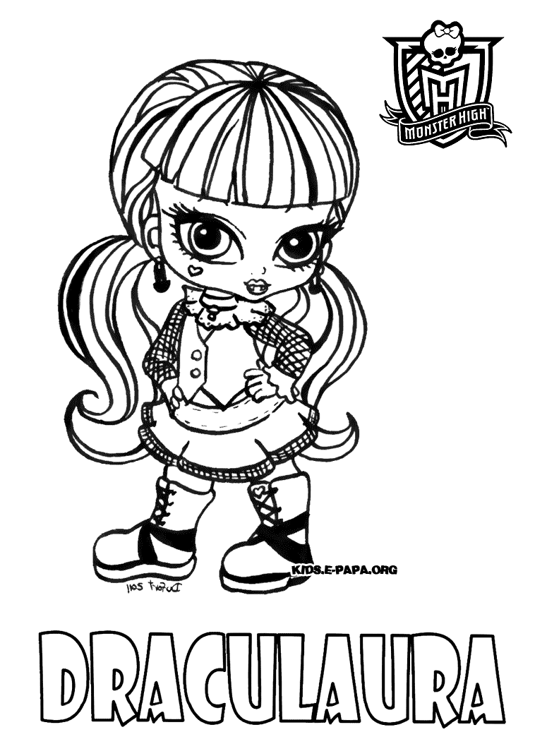 Monster high 3 coloriage monster high coloriages pour - Coloriage monster high a imprimer baby ...