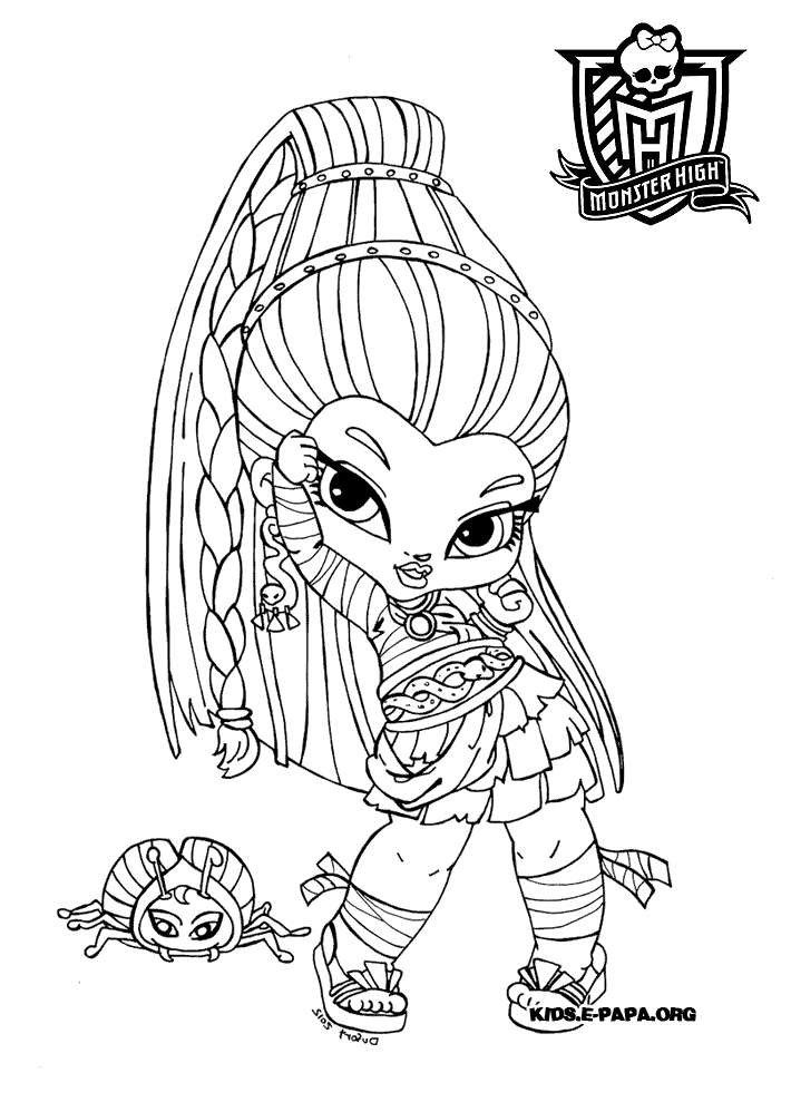 Monster High 5 Coloriage Monster High Coloriages Pour Enfants