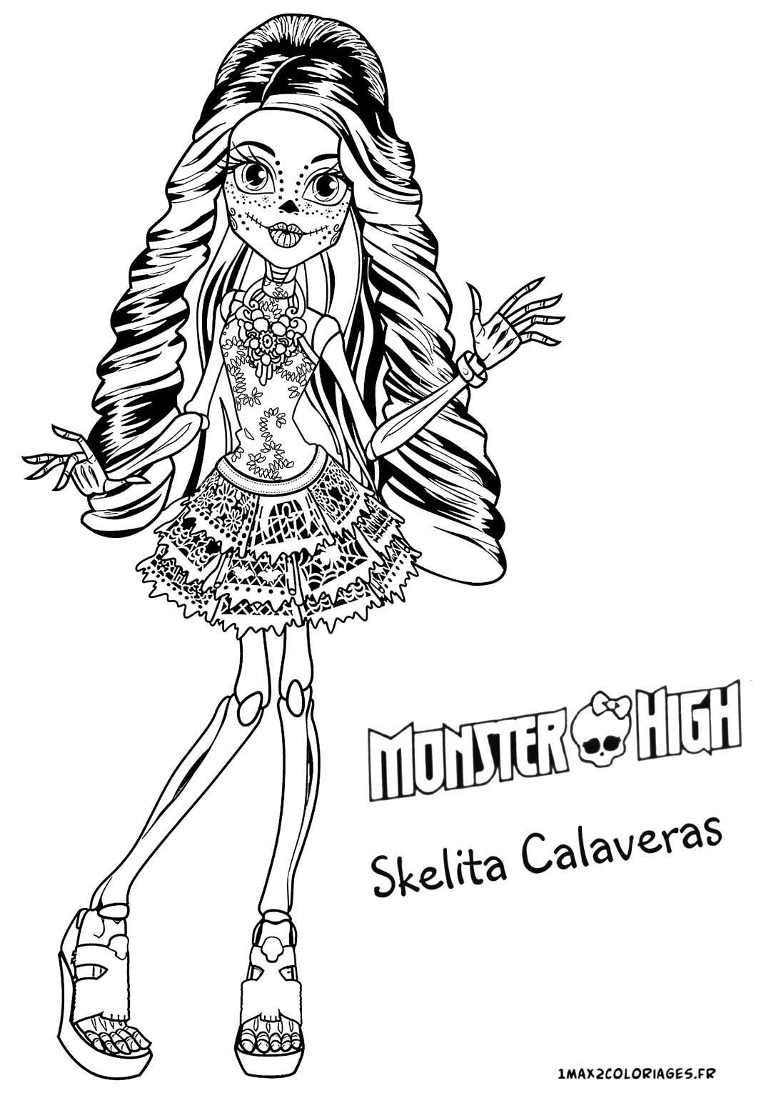 Coloriages monster high coloriage monster high - Coloriage de monster ...