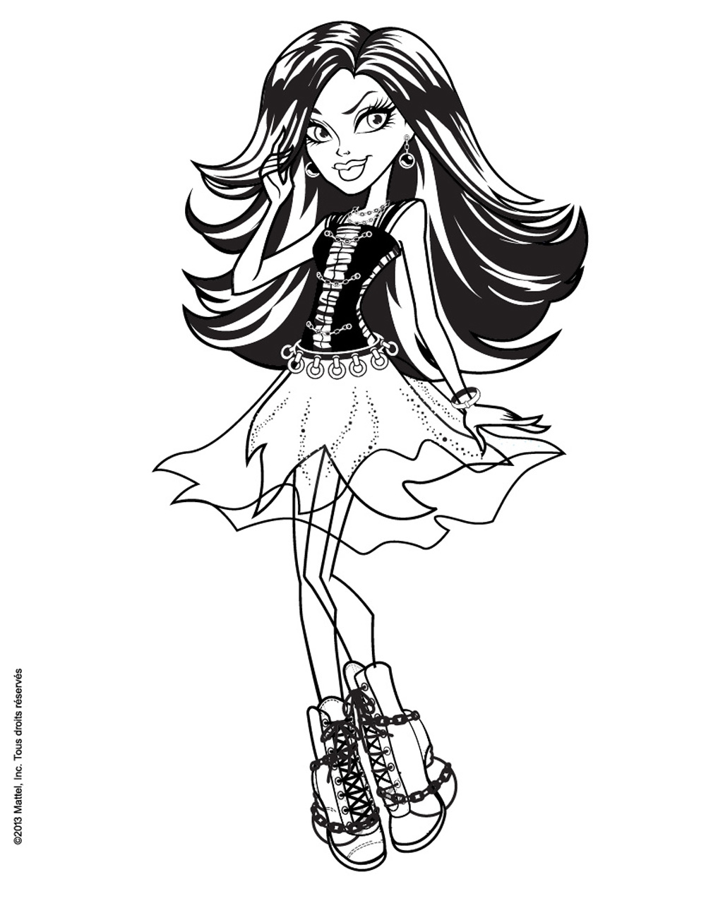 Monsterhigh spectra vondergeist coloriage monster high coloriages pour enfants page 2 - Dessin monster ...