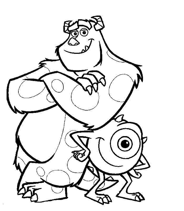 Coloriage Disney Monstre Et Compagnie.Les Deux Monstres Complices Coloriages Monstres Et