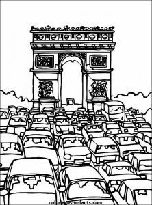 Coloriage monuments arc triomphe 2