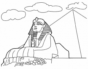 coloriage-monuments-sphynx free to print