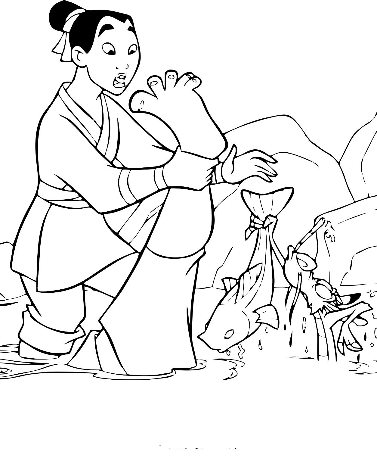 Mulan 4 Coloriage Mulan Coloriages Pour Enfants