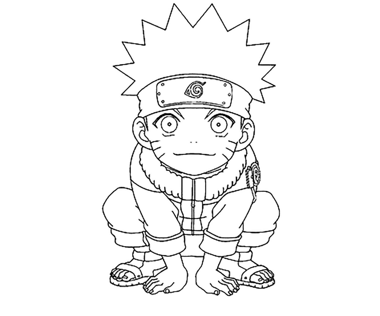 Petit naruto - Coloriage Naruto - Coloriages pour enfants