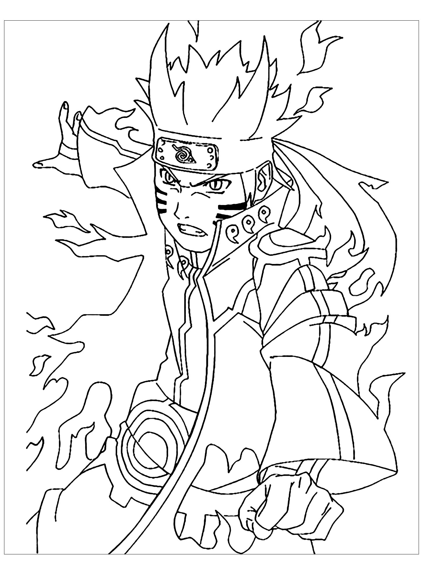 Coloriage de Naruto en action !