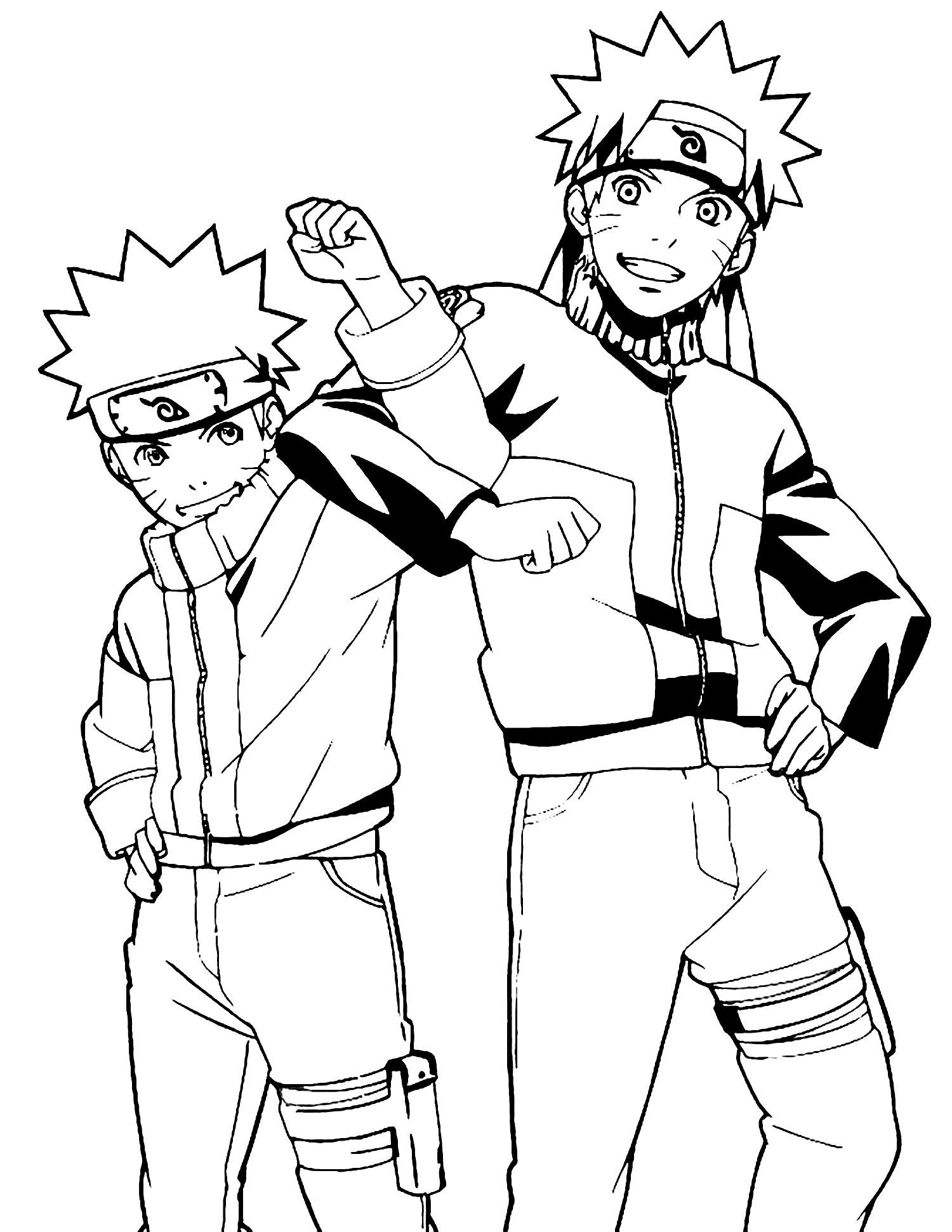 Naruto et Sasuki - Coloriage Naruto - Coloriages pour enfants