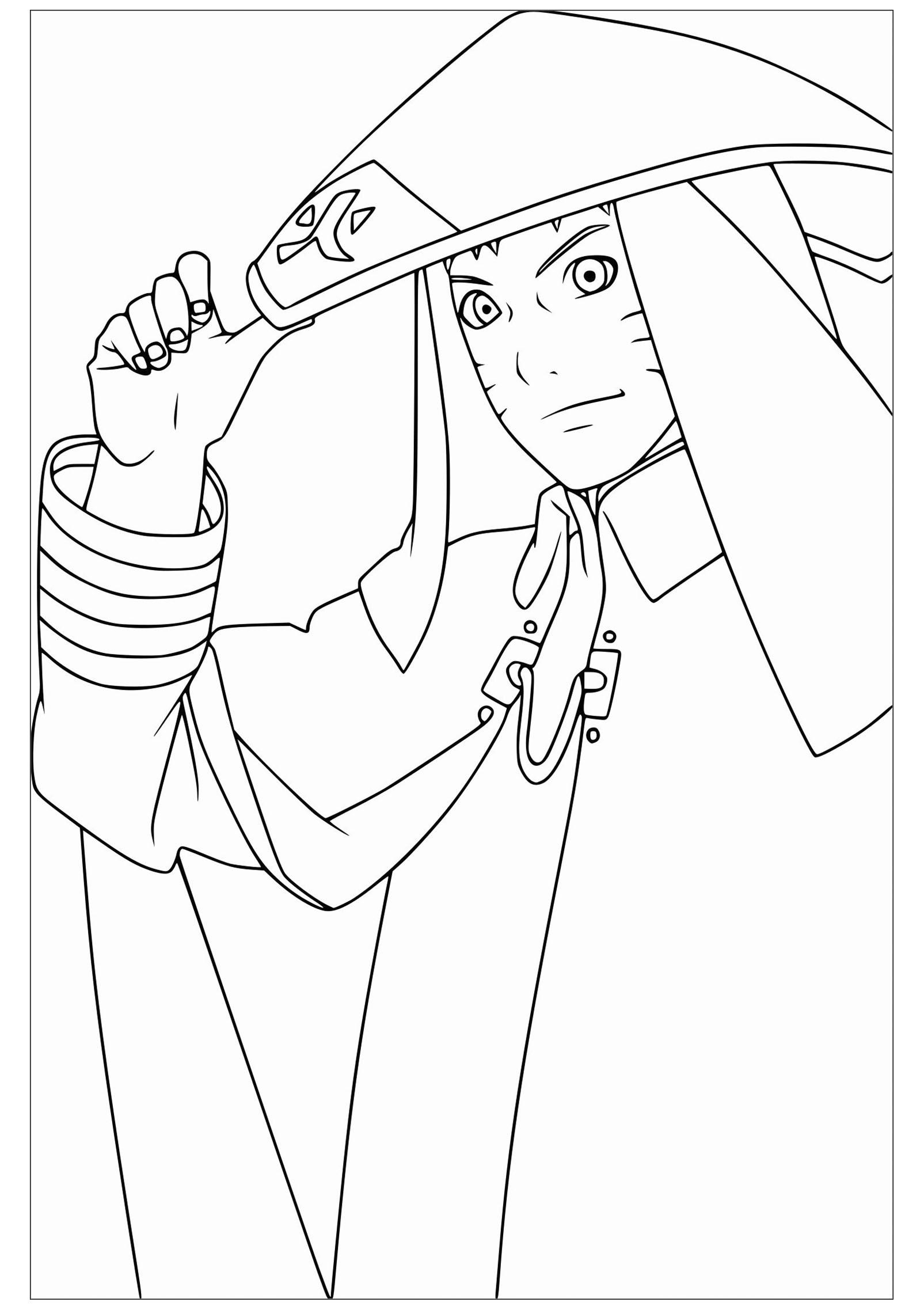 Naruto - Coloriage Naruto - Coloriages pour enfants