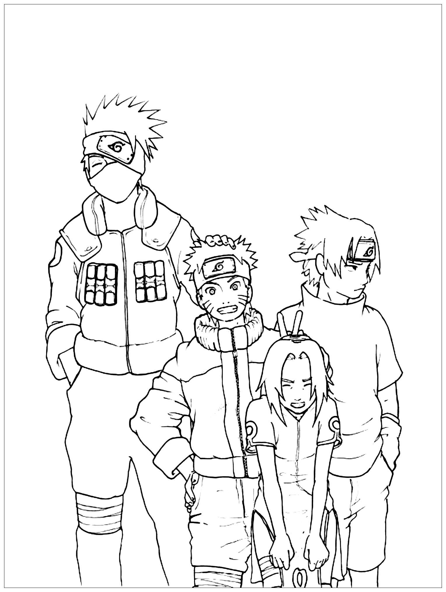 Naruto Coloriage Naruto Coloriages Pour Enfants