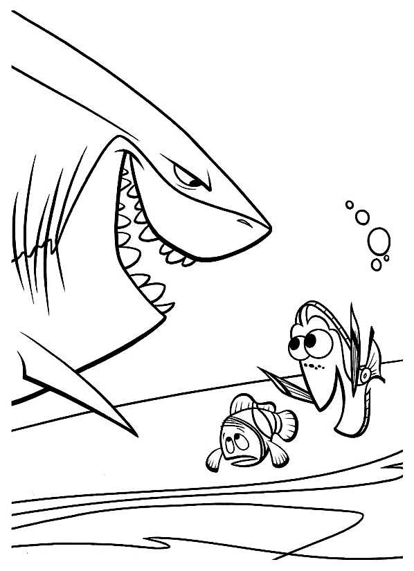 coloriage le monde de nemo 1 - Coloriage Nemo