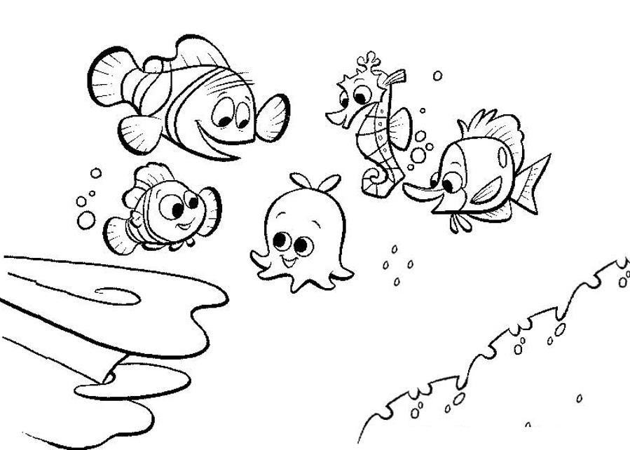 Le monde de nemo 17 coloriages le monde de nemo - Nemo coloriage ...