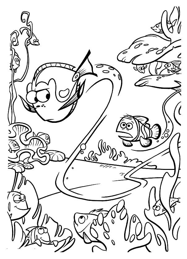 Le monde de nemo 25 coloriages le monde de nemo - Nemo coloriage ...