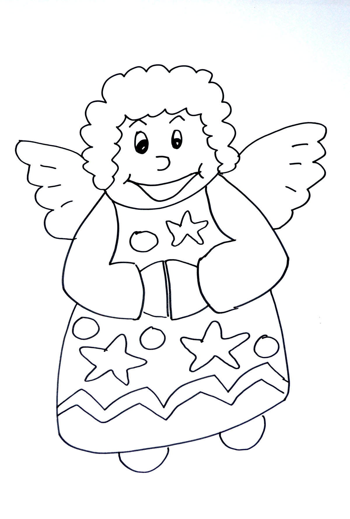 Ange de noel coloriages de no l coloriages enfants biboon - Image de coloriage ...