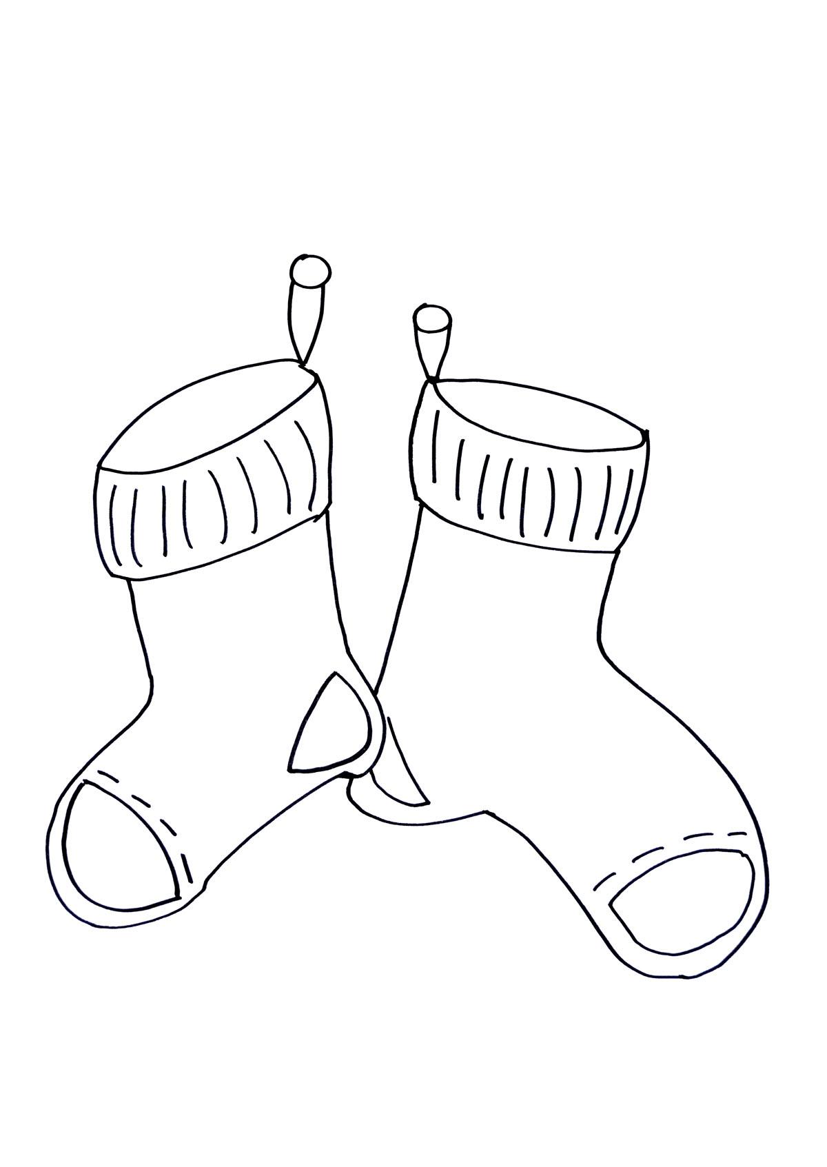 Coloriage de chaussettes de Noël !A partir de la galerie : Noel