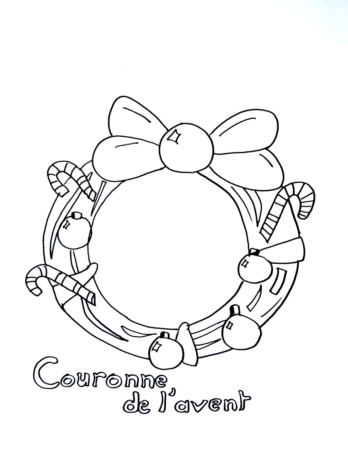 Couronne De L Avant Noel Coloriages De No L Coloriages