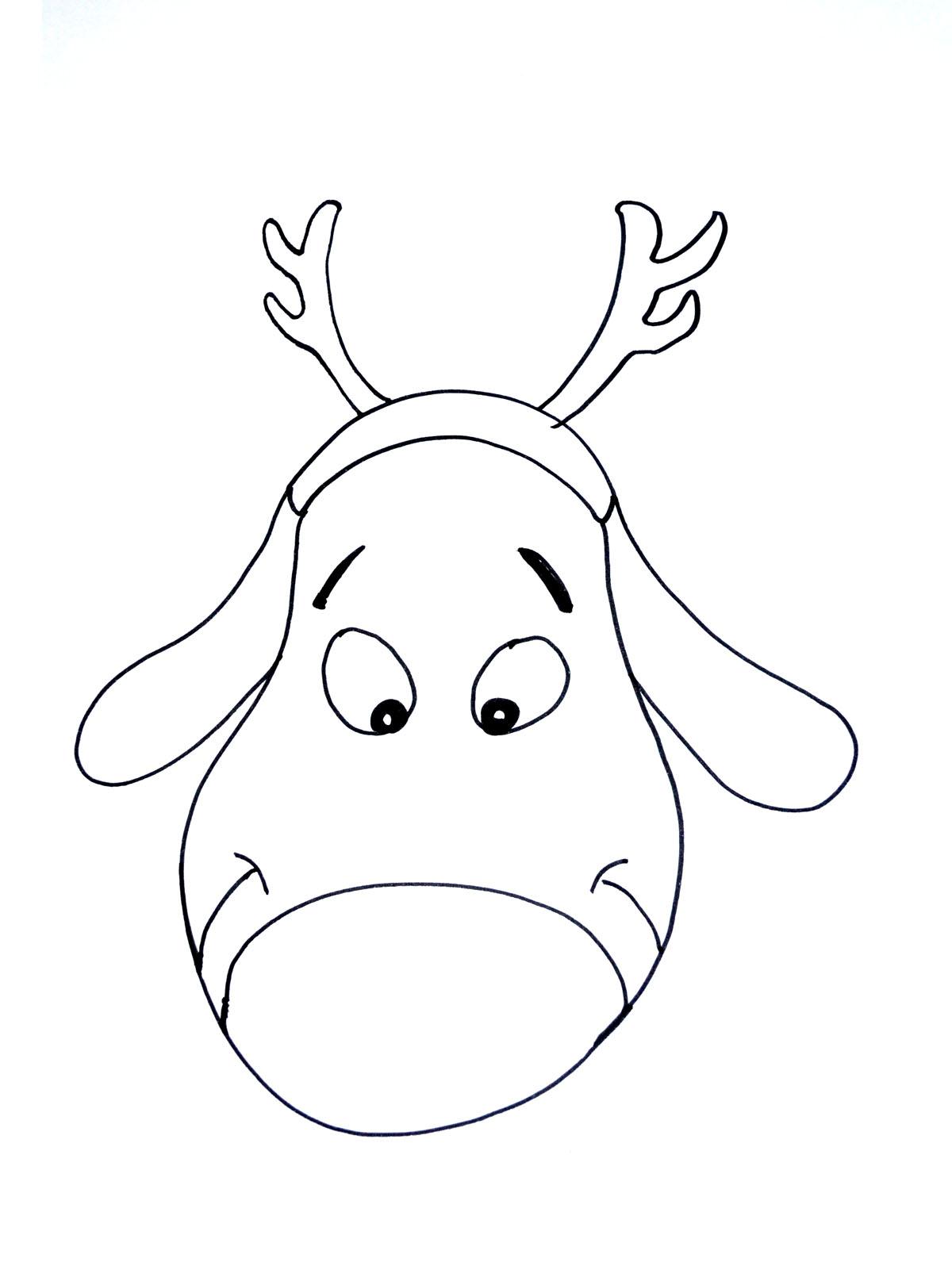 Un renne du Père Noël très simple à colorierA partir de la galerie : Noel