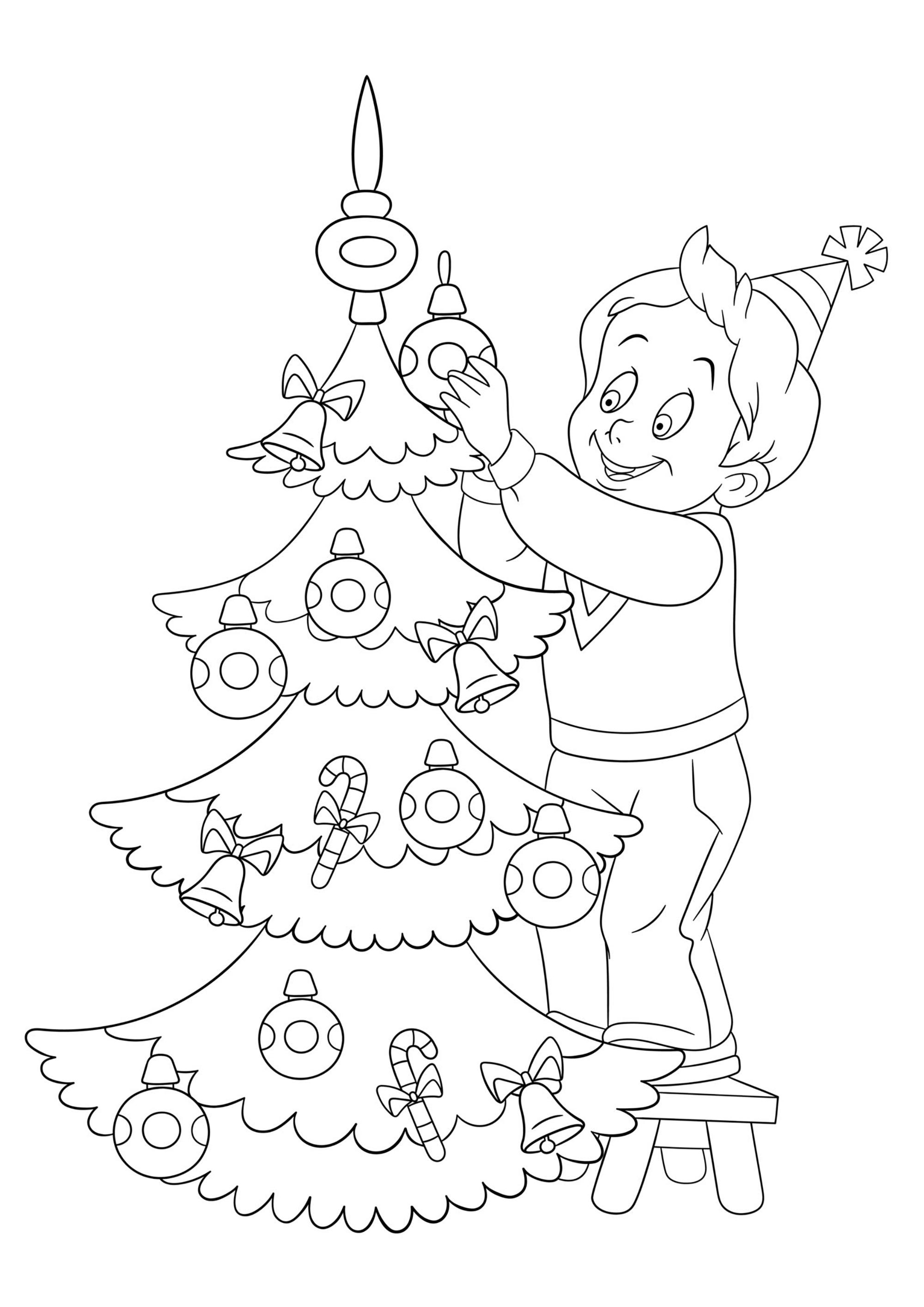 Sapin de Noël - Coloriages de Noël - Coloriages pour enfants