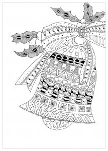 Zentangle Cloche Noel