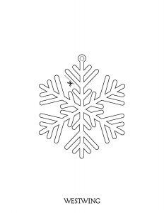Flocon de neige à découper