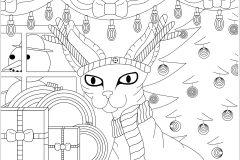 Chat Sphinx de Noël