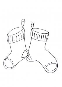 Coloriage chaussettes de noel