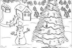 Paysage De Noel A Imprimer.Village De Noël à Imprimer Coloriages De Noël Coloriages