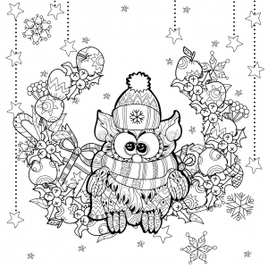 Http://www.dreamstime.com/stock photography christmas owl gift box zentangle doodle vector illustration layered ready coloring image61965622