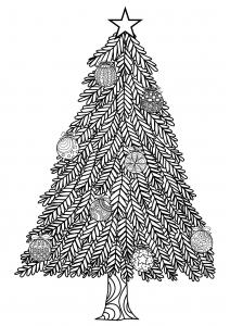 Dessin de Noël gratuit à télécharger et colorier