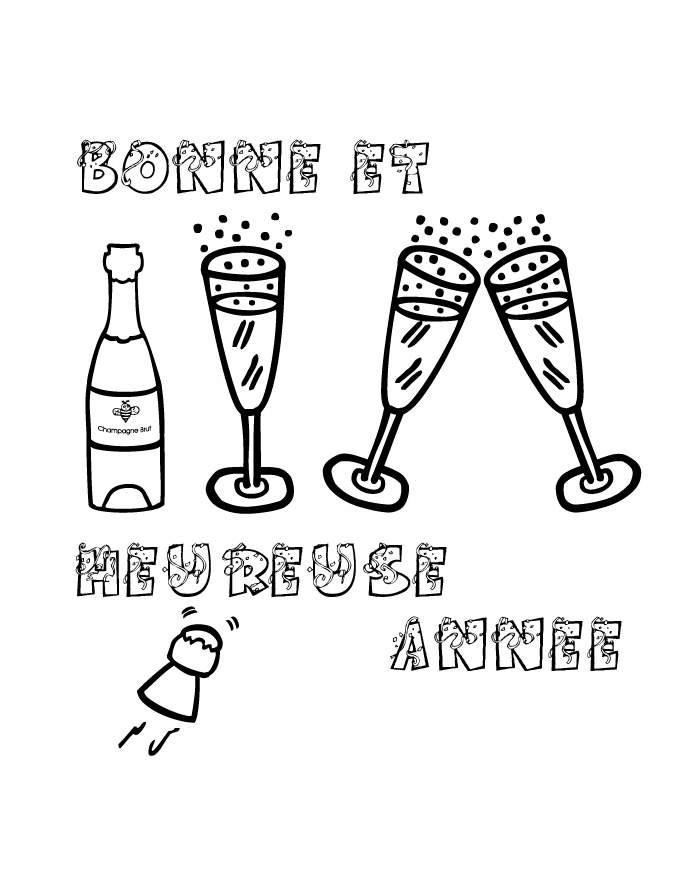Nouvel an bonne annee 5 coloriage nouvel an bonne for Menu nouvel an entre amis