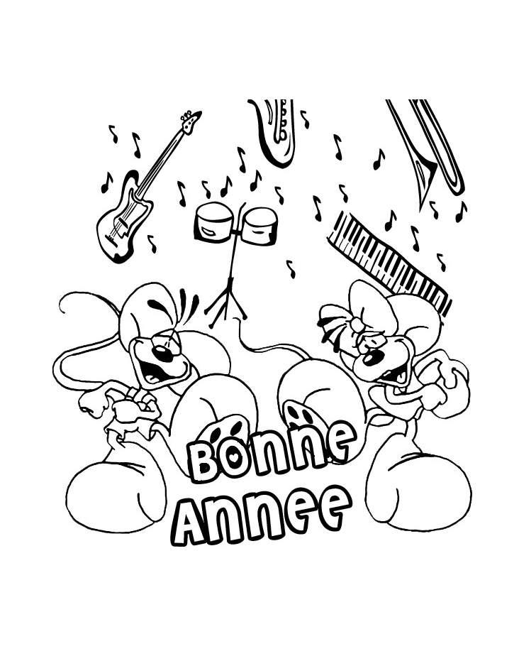 Nouvel an bonne annee 6 coloriage nouvel an bonne - Bonne annee coloriage ...