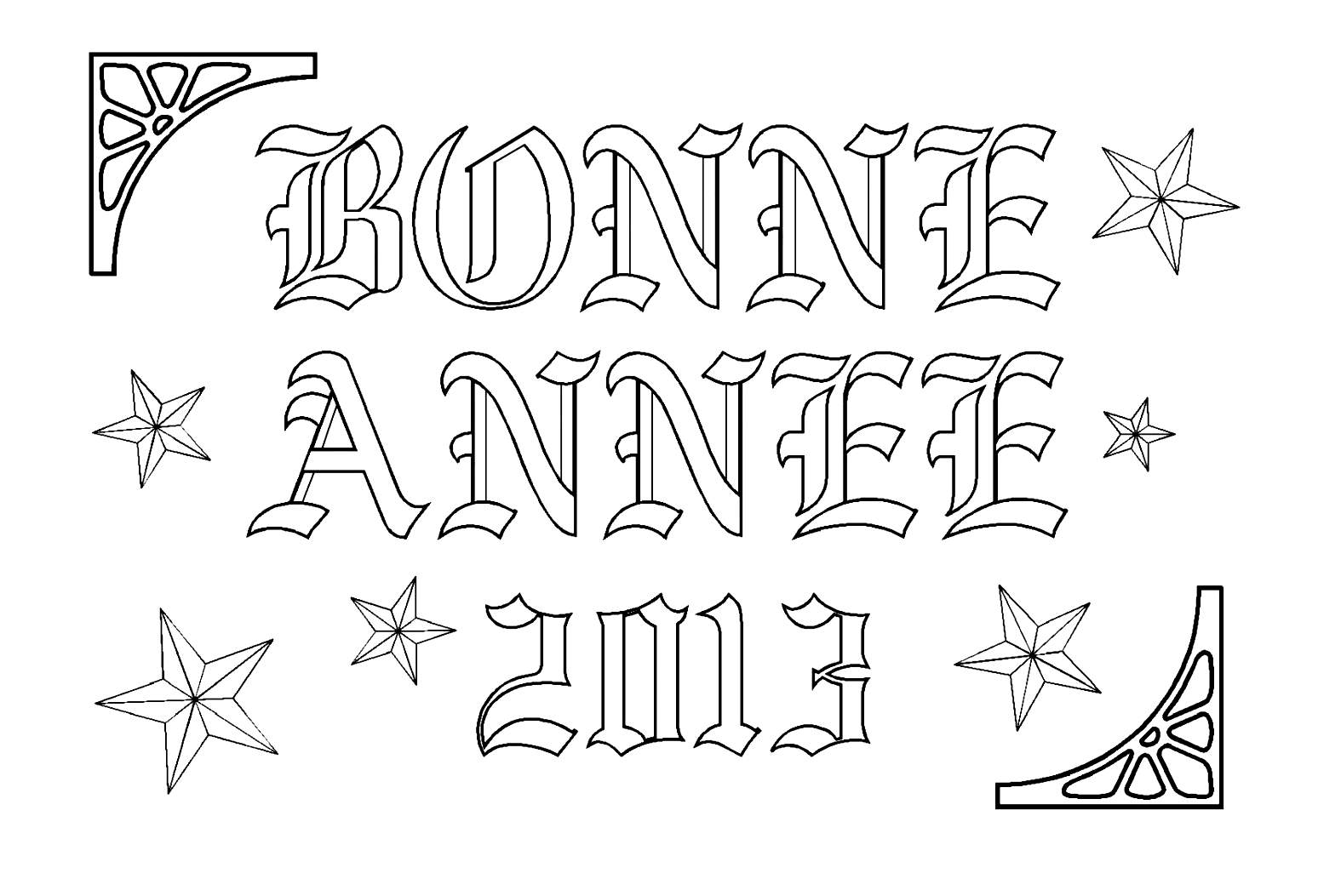 Affiche bonne année 2013
