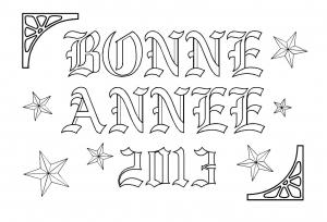 coloriage-nouvel-an-bonne-annee-9 free to print