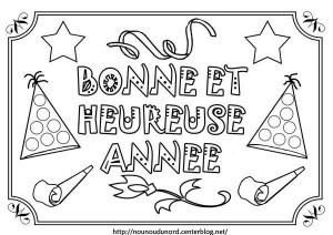 coloriage-nouvel-an-bonne-annee free to print