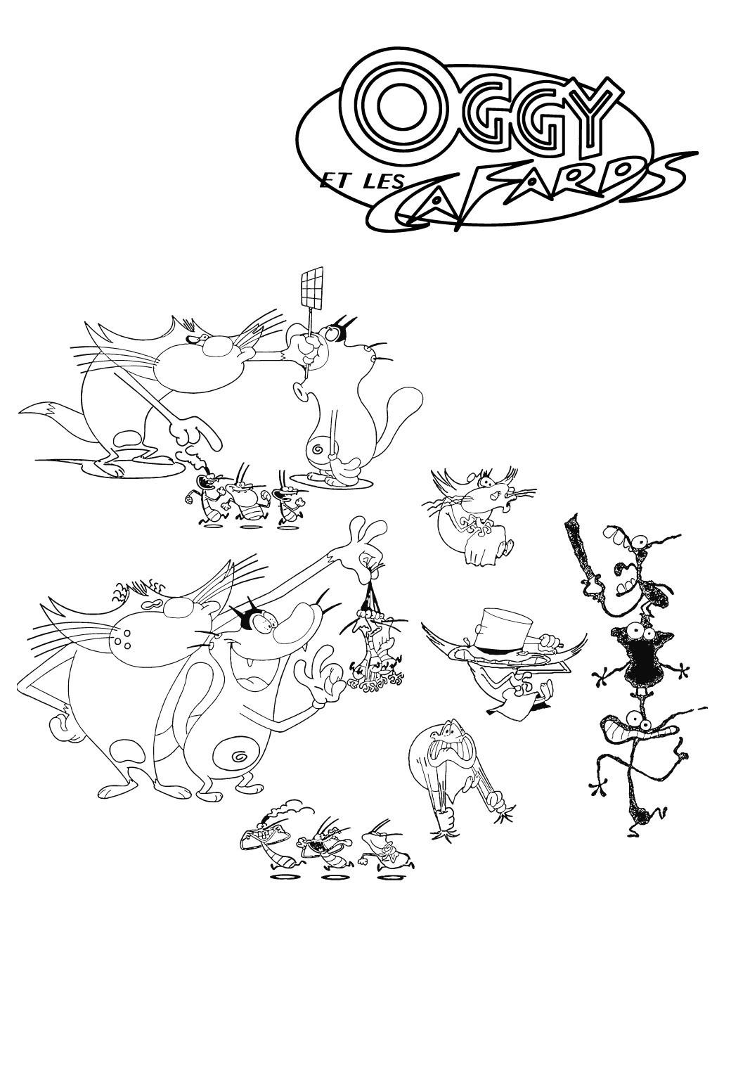 Coloriage Oggy Et Les Cafards Coloriages Pour Enfants