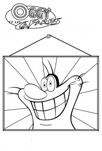 coloriage-oggy-et-les-cafards-10 free to print