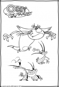 coloriage-oggy-et-les-cafards-11 free to print