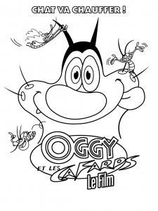 coloriage-oggy-et-les-cafards-15 free to print
