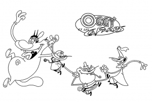 coloriage-oggy-et-les-cafards-3 free to print