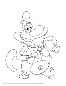 coloriage-oggy-et-les-cafards-5 free to print