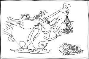 coloriage-oggy-et-les-cafards-9 free to print