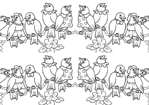 coloriage-oiseaux-1 free to print