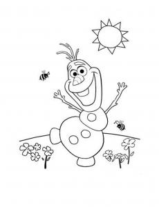 Coloriage olaf la reine des neiges coloriages pour enfants - Coloriage olaf ...