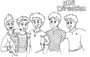 Coloriage de One direction à colorier pour enfants