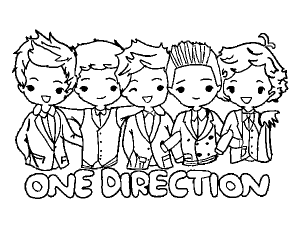 Coloriage one direction 2