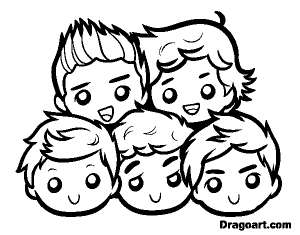 Coloriage one direction 3