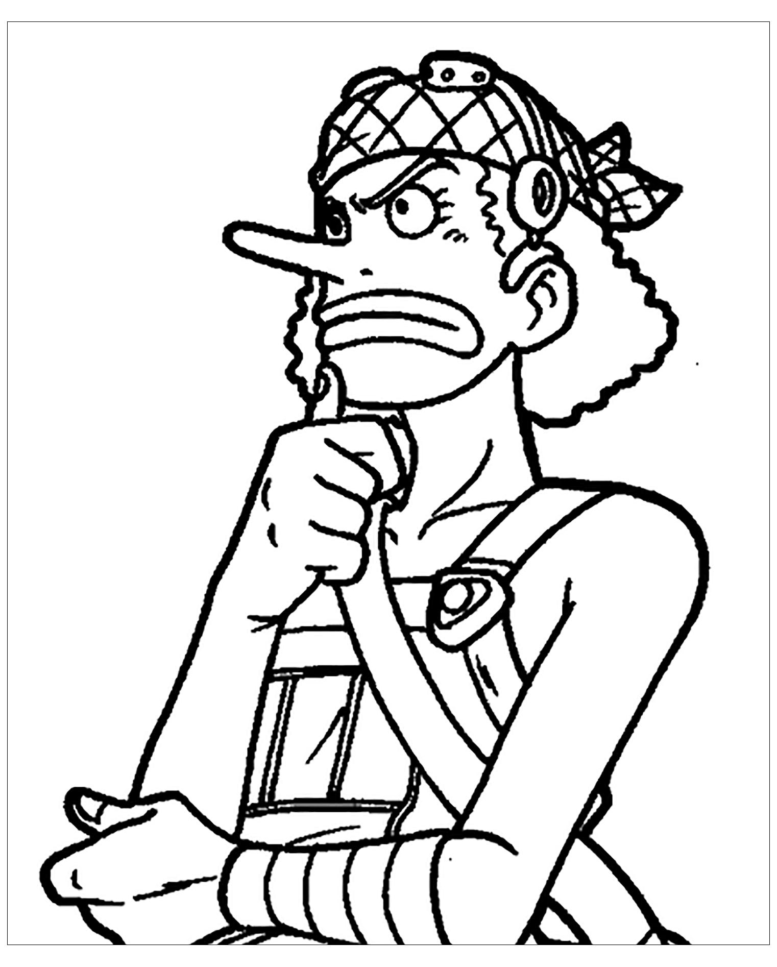 Coloriage De One Piece A Colorier Pour Enfants Coloriage One