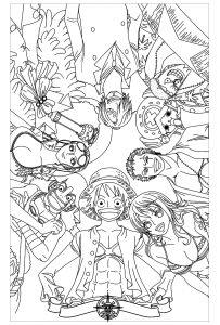 Coloriage enfant manga one piece 13