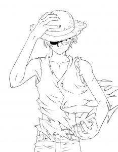 Coloriage enfant manga one piece 15